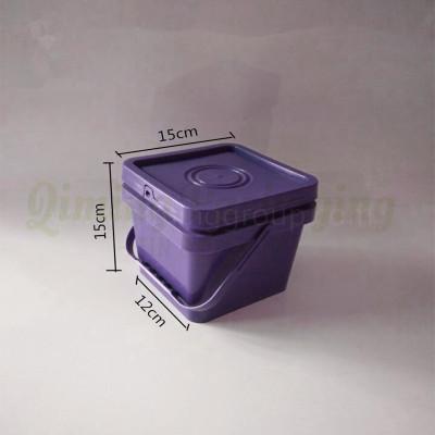 2L plastic square bucket