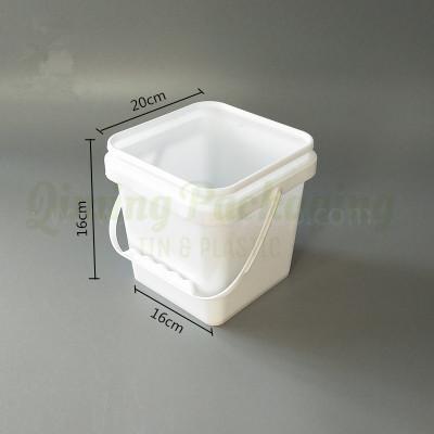 4L plastic square bucket