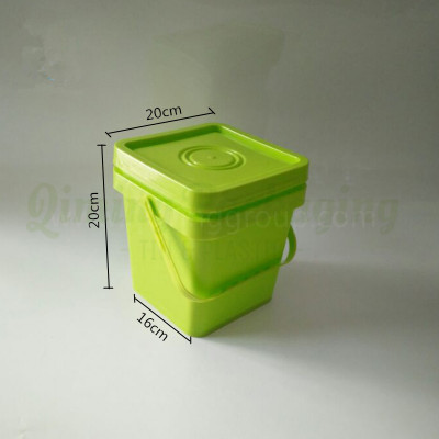 5L plastic square bucket