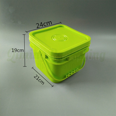 8L plastic square bucket