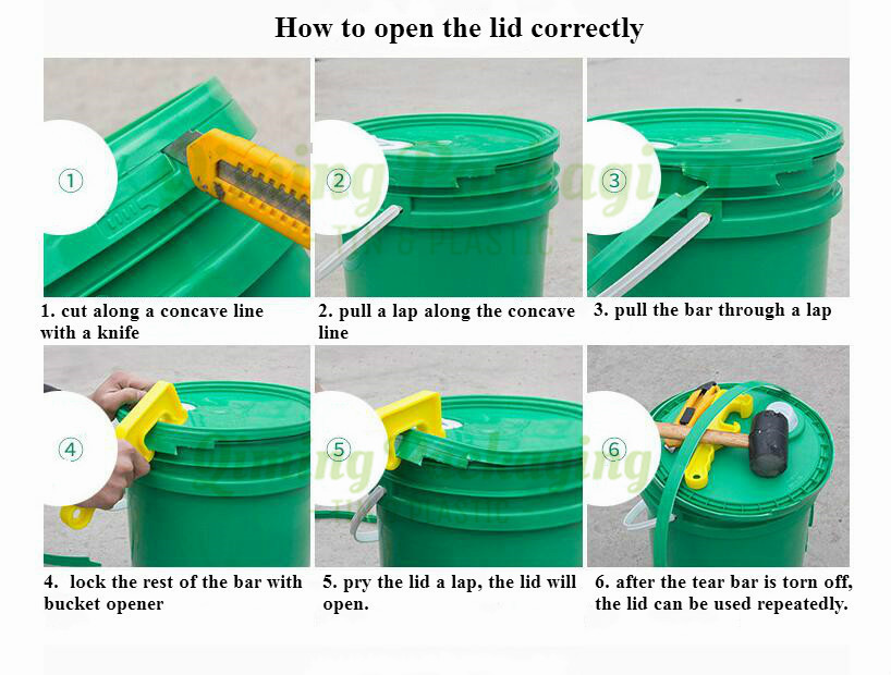 bucket open step 2