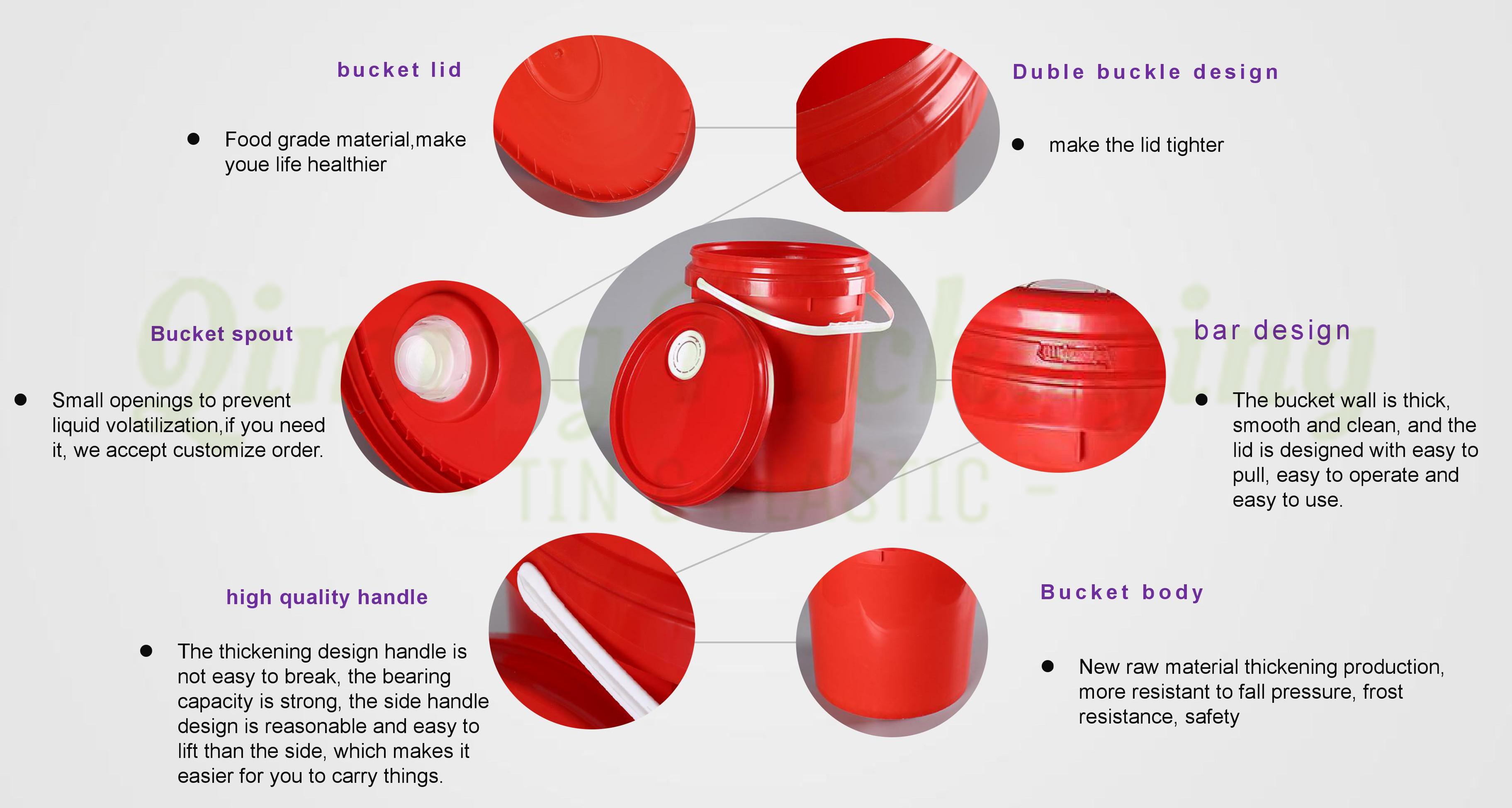 plastic bucket details_