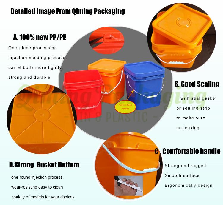 plastics quare buckets