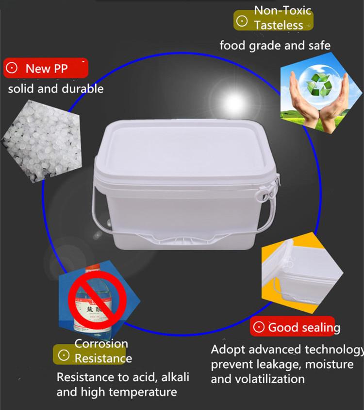 plastic rectangle bucket pail