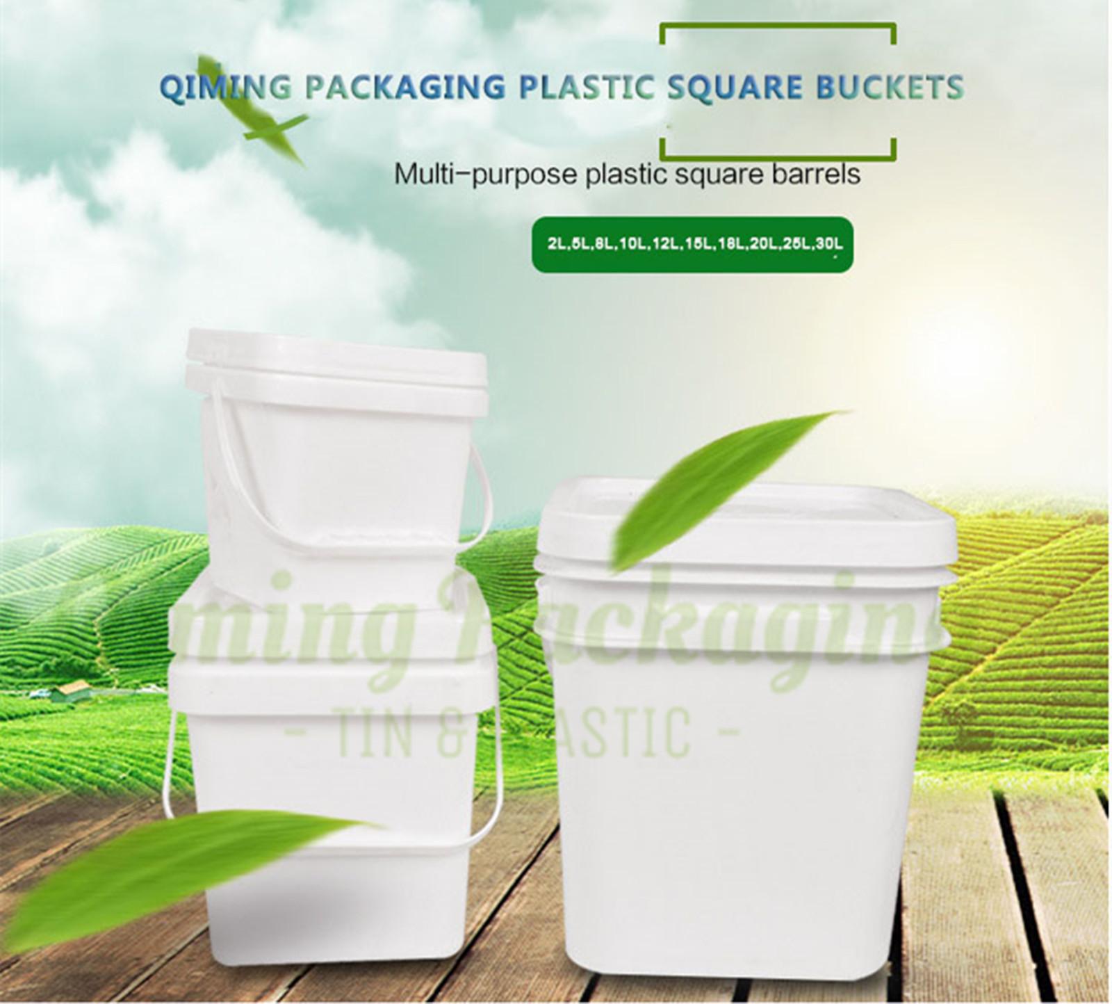 plastic square bucket