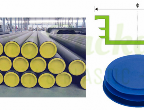 Plastic end caps for large diameter pipe