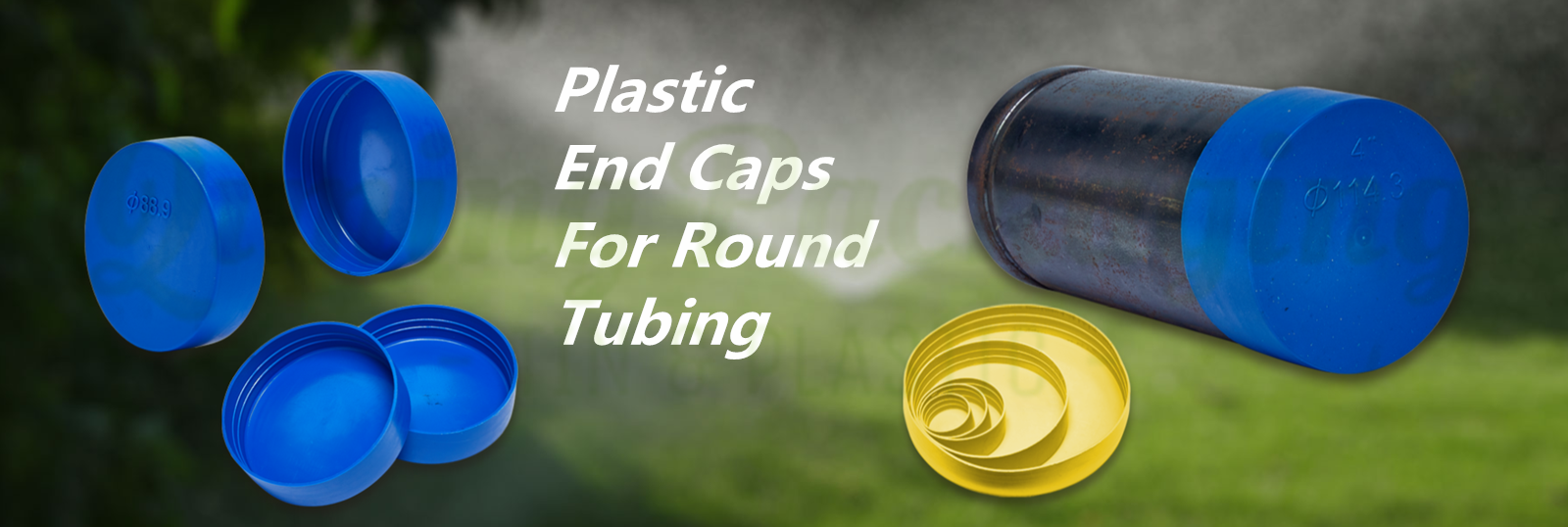 plastic end caps for round tubing