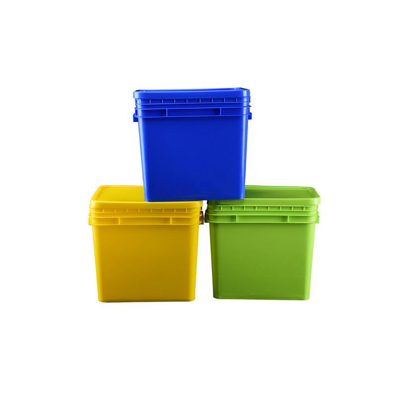rectangle plastic buckets pails with lids