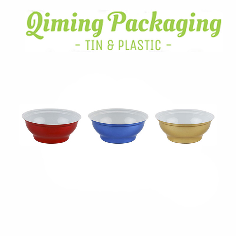 qiming packaging food grade tinplate bowl