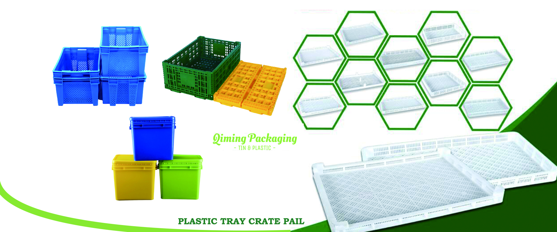 Plastic turnover basket DRYING TRAYS SQUARE PAILS
