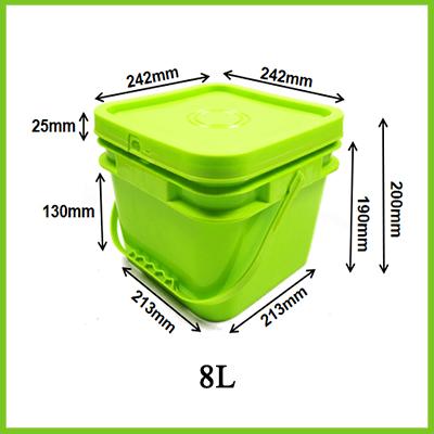 plastic square pails