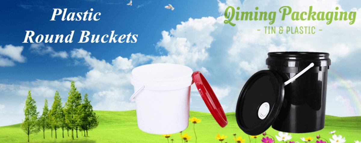 plastic round buckets pails