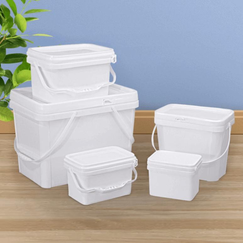 rectangle plastic buckets